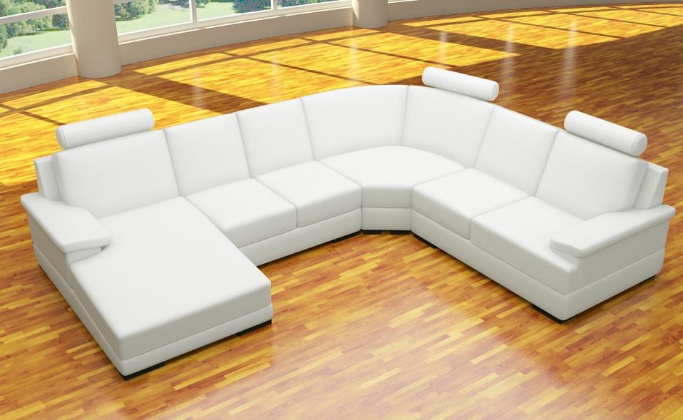 Xxl 4 teile sofa u form polstergarnitur ecke kunstleder for Polstergarnitur u form