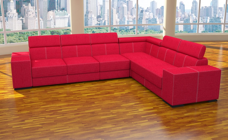 Xxl 4 teile sofa l form polstergarnitur ecke for Wohnlandschaft aktion