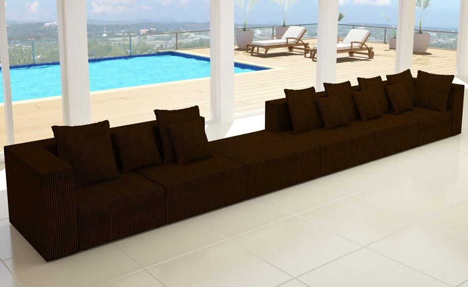 Mod hollywood in cord sofa designer wohnlandschaft 6 for Wohnlandschaft cord