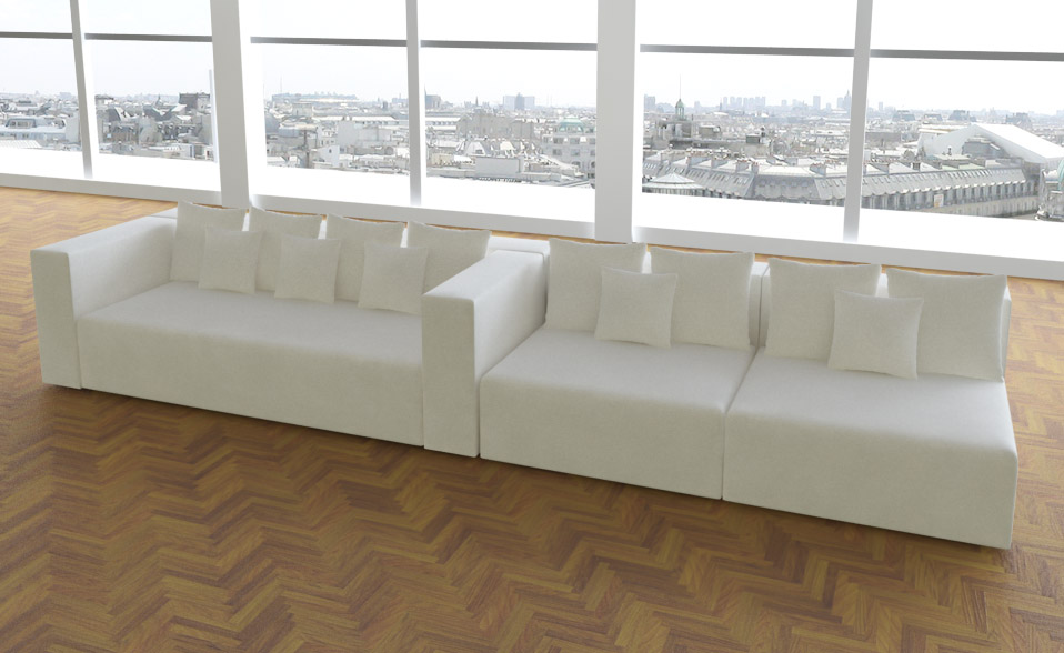 leona in alcantara look design sofa couch wohnlandschaft 3. Black Bedroom Furniture Sets. Home Design Ideas