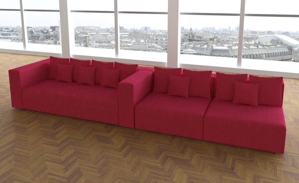 leona stoff sunrise design sofa couch wohnlandschaft 3 1. Black Bedroom Furniture Sets. Home Design Ideas