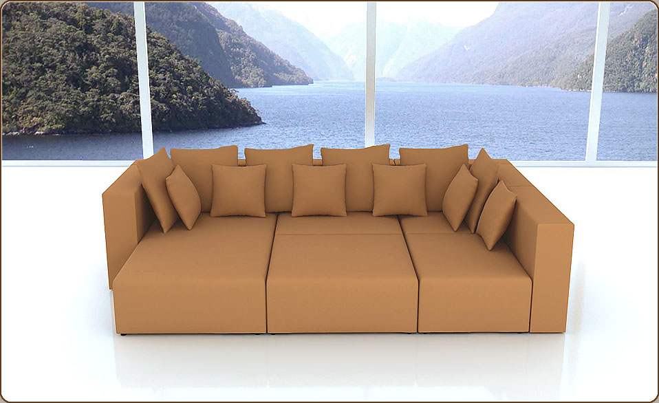 designer sofa modular l form longchair maxihocker eckelement alcantara farben ebay. Black Bedroom Furniture Sets. Home Design Ideas