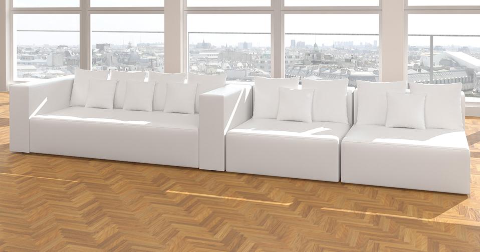 Modell leona design sofa couch wohnlandschaft 3 1 1 for Wohnlandschaft 2 wahl