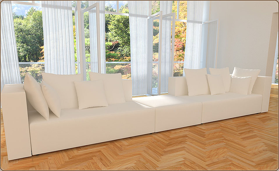 belinda alcantara look designer sofa couch wohnlandschaft 3 3 1 kissen neu ebay. Black Bedroom Furniture Sets. Home Design Ideas