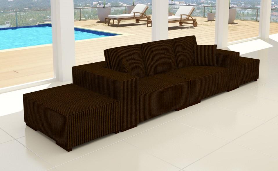 Monte carlo in cord premium designer 3 er sofa couch for Wohnlandschaft cord