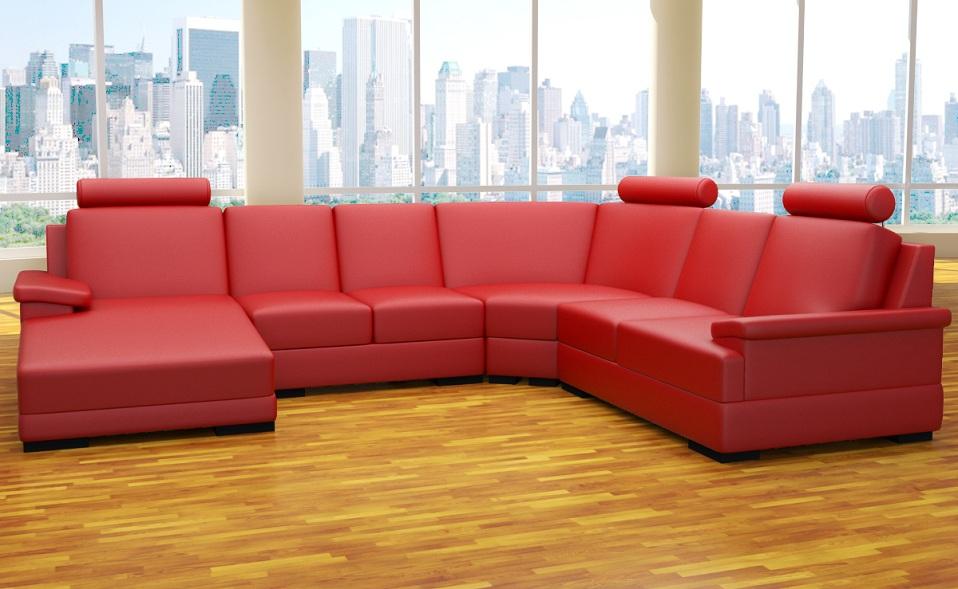 xxl wohnlandschaft 4 teile sofa u form polstergarnitur ecke kunstleder farben ebay. Black Bedroom Furniture Sets. Home Design Ideas