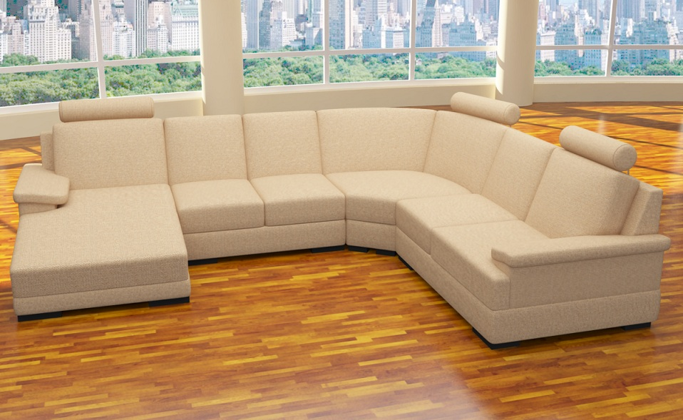 Xxl 4 teile sofa u form polstergarnitur ecke for Wohnlandschaft aktion