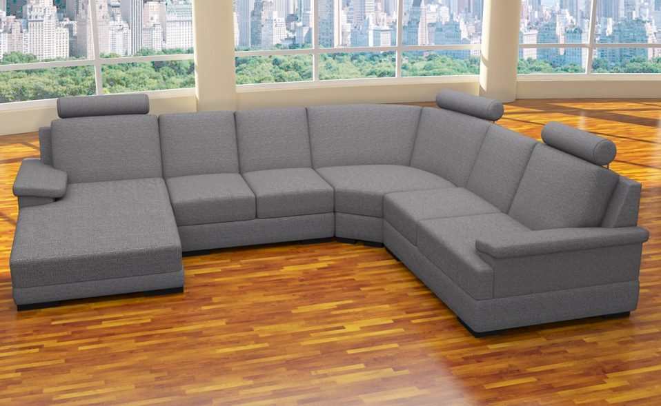 xxl 4 teile sofa u form polstergarnitur ecke. Black Bedroom Furniture Sets. Home Design Ideas