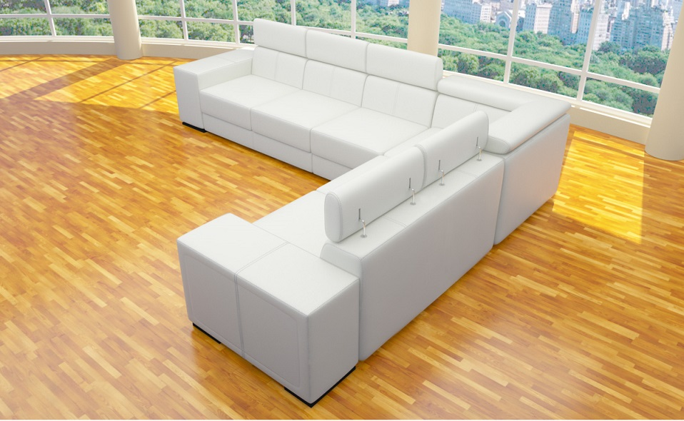 xxl 4 teile ecke sofa l form polstergarnitur wohnlandschaft kunstleder farben ebay. Black Bedroom Furniture Sets. Home Design Ideas