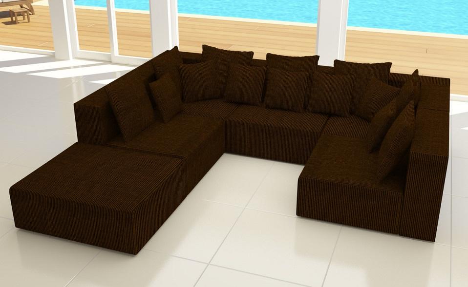 Xxxl Wohnlandschaft 6tlg Modulares Sofa Cord Ecke L Form Garnitur