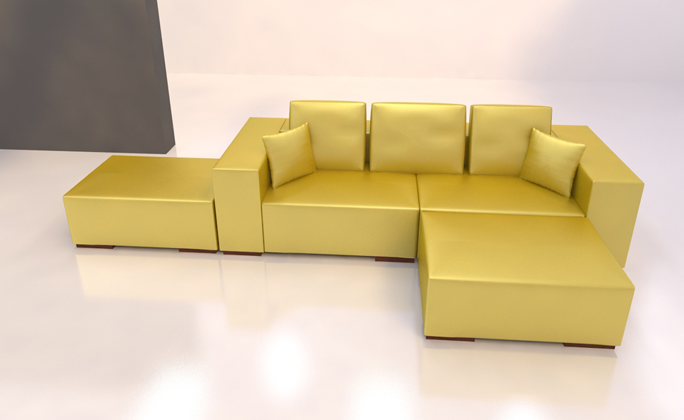 aktion gold 3 sitzer sofa hocker garnitur couch bettsofa kunstleder u form ebay. Black Bedroom Furniture Sets. Home Design Ideas