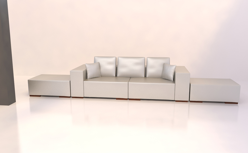 silber 3 sitzer sofa hocker garnitur couch bettsofa kunstleder u form neuheit ebay. Black Bedroom Furniture Sets. Home Design Ideas