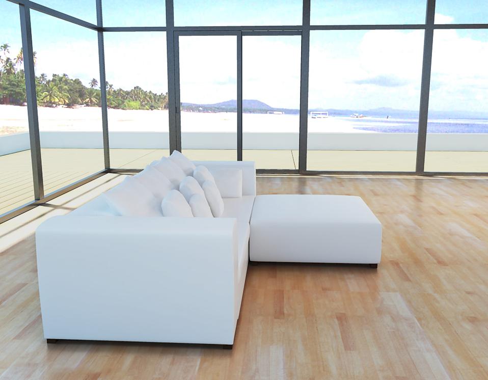 xxxl sofa 3 sitzer eckcouch hocker kissen leder look stoff teile zur auswahl ebay. Black Bedroom Furniture Sets. Home Design Ideas