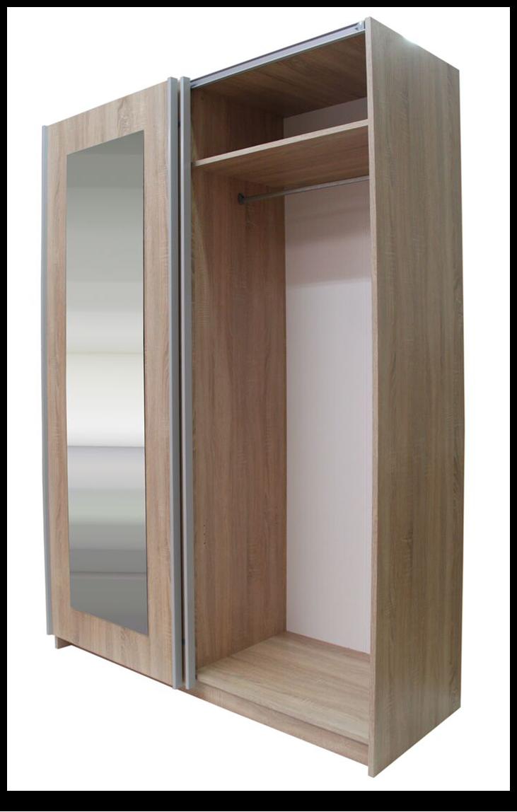 schwebet renschrank mit spiegel 150 200 250 kleiderschrank schlafzimmerschrank ebay. Black Bedroom Furniture Sets. Home Design Ideas